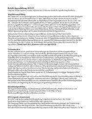Bericht Jugendleitung 2012/13 - des Brandenburgischen ...