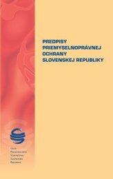Predpisy priemyselnoprávnej ochrany Slovenskej republiky, 3 ...