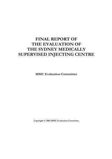 Evaluation of the Sydney Medically Supervised ... - INDRO e.V.