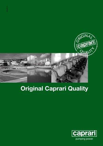 Original Caprari Quality