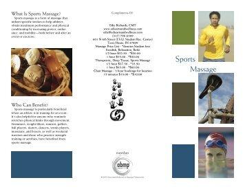 """Sports Massage"" brochure"