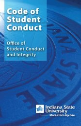 Code of Student Conduct - Indiana State University