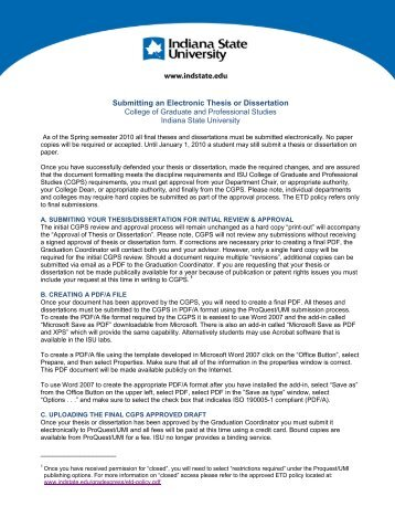 Electronic thesis and dissertation publication form umd