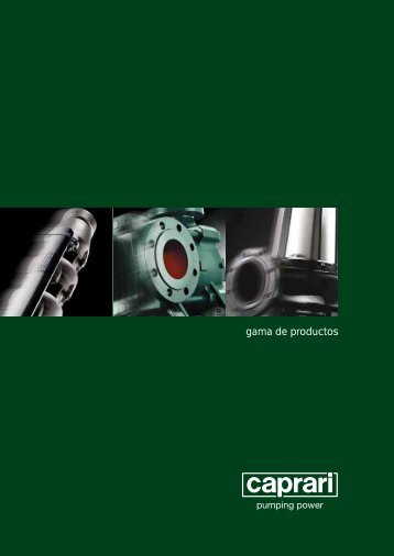 gama de productos - Caprari