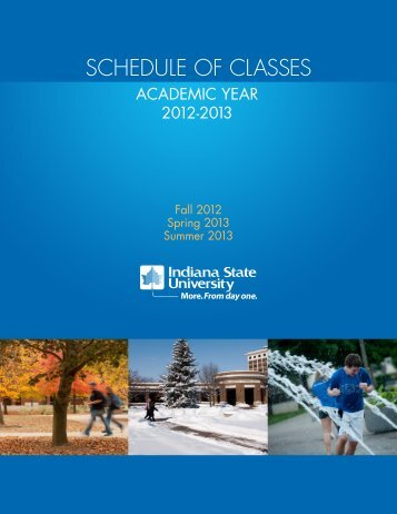 Schedule of Classes Bulletin - Indiana State University