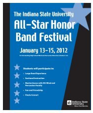 January 13-15, 2012 - Indiana State University