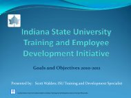 Goals and Objectives 2010-2011 - Indiana State University