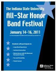 January 14-16, 2011 - Indiana State University