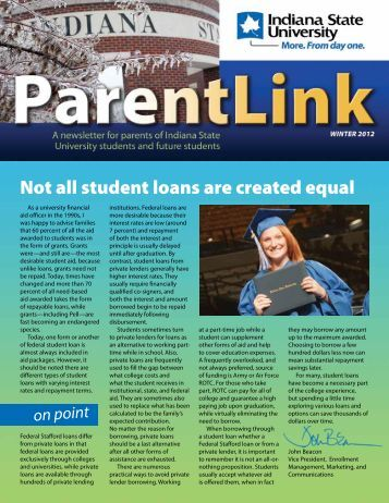 Not all student loans are created equal - Indiana State University