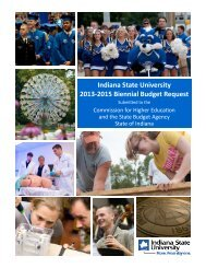 Indiana State University 2013-2015 Biennial ... - State of Indiana