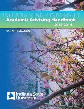 Academic Advising Handbook - Indiana State University