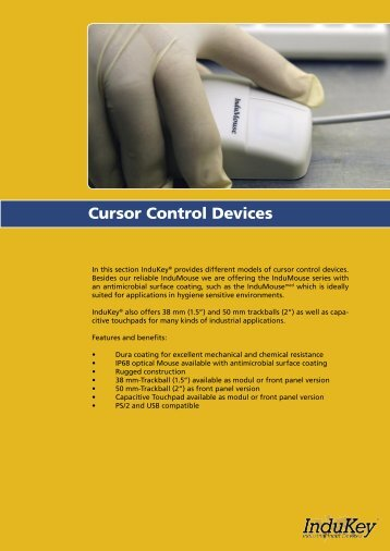 Cursor Control Devices - InduKey