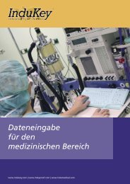Dateneingabe für den medizinischen Bereich - InduKey
