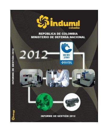 INFORME DE GESTION 2012.pdf - Indumil