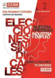 Programa Electoral - Federación de Industria - CCOO