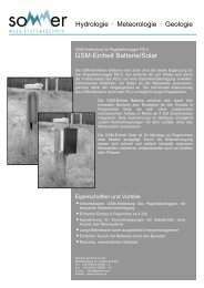 GSM-Einheit Batterie/Solar Hydrologie • Meteorologie • Geologie