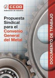 Propuesta convenio Metal - Federación de Industria - CCOO