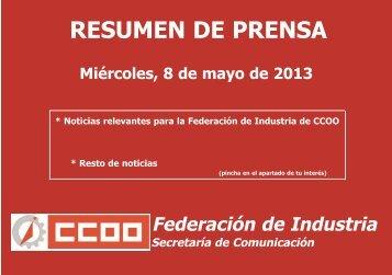 publicación - Federación de Industria - CCOO