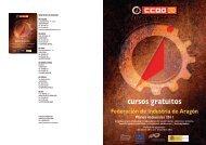 Folleto cursos - Federación de Industria - CCOO
