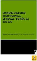 convenio colectivo interprovincial de renault españa 2010