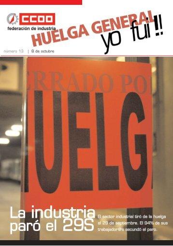 Número especial huelga general - Federación de Industria - CCOO
