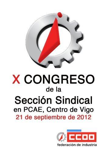 normas congreso - Federación de Industria - CCOO