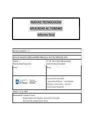 NUEVAS TECNOLOGÍAS APLICADAS AL TURISMO Informe final
