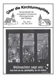 GB Winter2013-14.pdf - Evangelisches Dekanat Cham