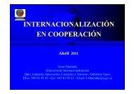 Internacionalización en Cooperación