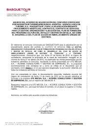 ANUNCIO DEL ACUERDO DE ADJUDICACIÓN DEL CONCURSO ...