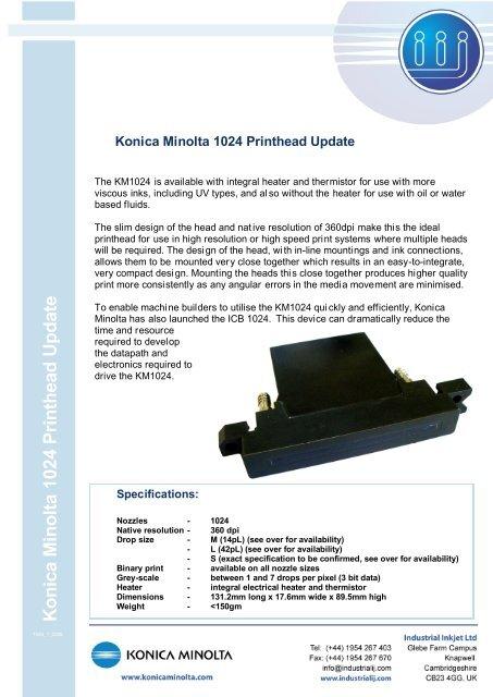 Konica Minolta 1024 Print