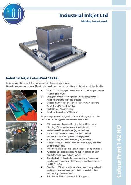 ColourPrint 142 HQ - Industrial Inkjet Ltd