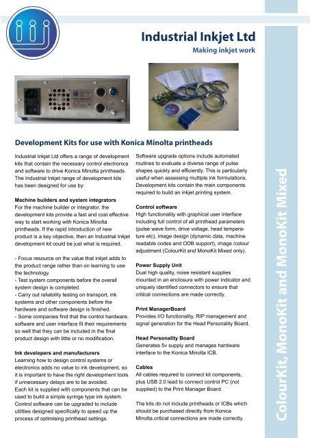 Data Sheet - Industrial Inkjet Ltd