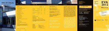 Programmflyer - Berliner Zentrum für Industriekultur