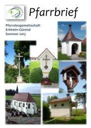 Sommerpfarrbrief 2013 - Bistum Augsburg