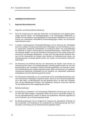 Ziele - Planungsverband Industrieregion Mittelfranken