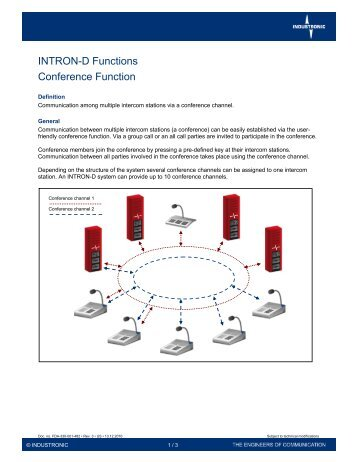 Conference Function - Industronic