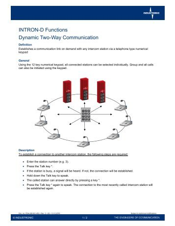 Dynamic Two-Way Communication - Industronic