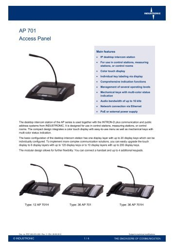 AP 701 Access Panel - Industronic