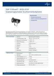 DSP 15 EExeNT – IECEx 25 W Explosionsgeschützter ... - Industronic