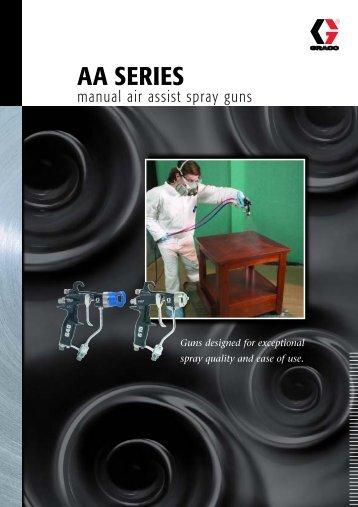 336937E , AA SERIES manual air assist spray guns