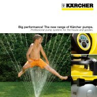 Big performance! The new range of Kärcher pumps.
