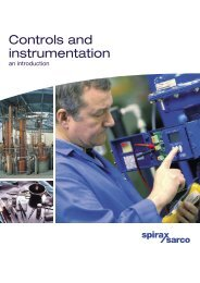 Controls and instrumentation an introduction - Spirax Sarco