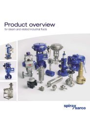 Product overview for steam and related industrial fluids - Spirax Sarco
