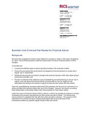Business Cost of Annual Fee Review for Financial Advice