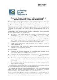 Rice Warner - Industry Super Network