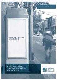 apra prudential standards - Industry Super Network