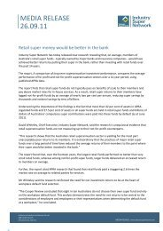Read the Media Release here. - Industry Super Network