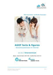 Q4-2013 AGOF Facts Figures Entertainment