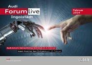 Monatsprogramm des Audi Forum Ingolstadt Februar 2014
